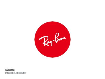 Ray-Ban logo concept concept circle eyeglasses sunglasses brand italian logo red animaiton ray ban