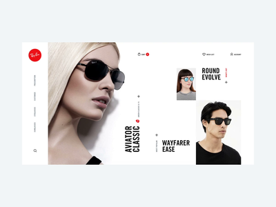 Ray-Ban online shop concept