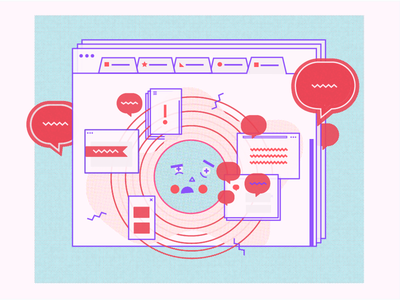 Web overload mobile design design internet textures ui cartoon computer texture illustration