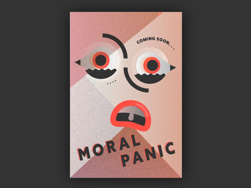 Moral Panic eyes abstract faces moral panic poster art geometric gradient poster illustration