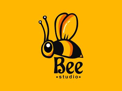 Bee logo | Studio logo | Modern Mascot logo flat logo bee mascot mascot logo bee mascot logo business logo bee bee logo png modern bee logo bee logo design bee logo minimalist minimal logo dsign minimal logo minimal logos business logo design logo logodesign logo design branding