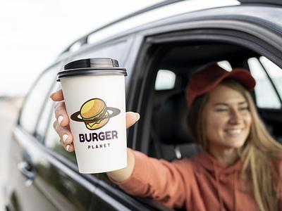 Burger Planet graphic design fast food logo menu burger restaurant logo restaurant junkfood drink fastfood burger king burgers illustration design logo branding logo design