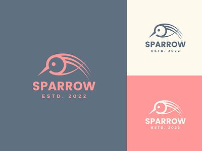 Sparrow logo design modern cute creative minimal logo nature icon logo trends 2021 graphic design bird logo animal bird sparrow logo sparrow minimalist logodesign minimal design logo branding logo design