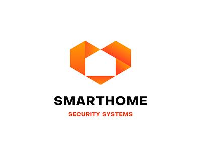 SmartHome logo design logos minimal logomark logo trends 2021 modern logo security gradient creative icon smarthome smart home design business logo design logodesign logo branding logo design