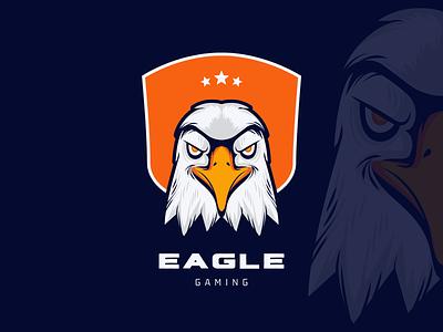 Eagle logo design | Gaming logo mark icon bird falcon hawk logo esports mascot logo gamer sports gaming logo gaming animal modern eagle logo eagle illustration design logo branding logo design