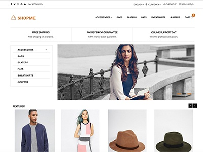 Free Opencart Theme - ShopMe Responsive responsive shopme createwebsite theme free opencart