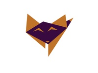 Baby fox origami design