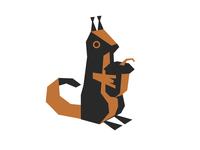 Squirrel origami design