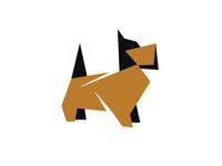 Dog origami design