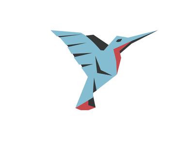Hummingbird origami design