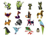 Origami Graphic Set