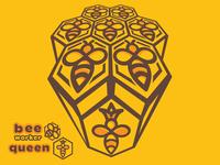 Bee worker and bee queen