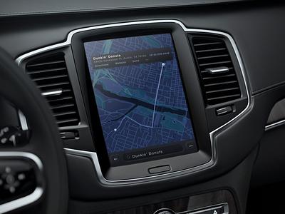 GM AtYourService Design Mockup vehicleui visual design uiux ux ui map directions navigation dashboard ihu automotive app in car car