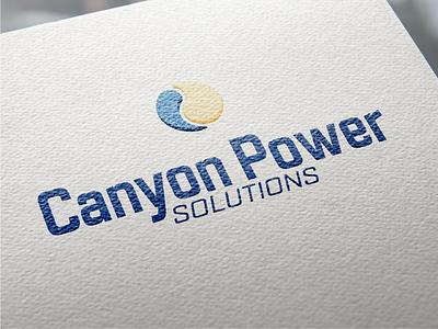 Canyon Power Logo canyon power paper branding identity logo