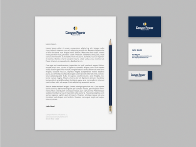 Canyon Power Stationery canyon power paper system business collateral stationery identity branding