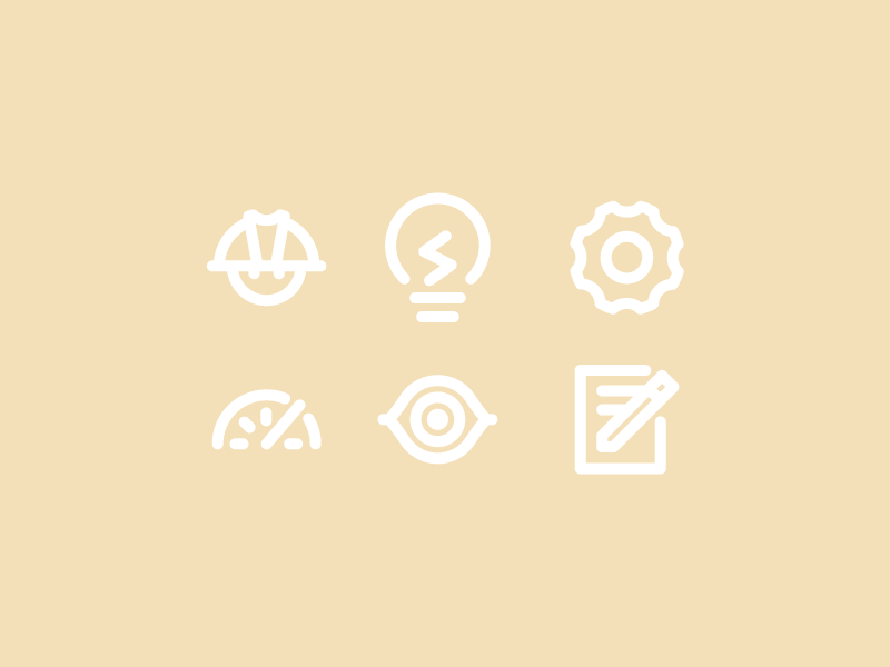 Electrical Icons 1 By Michael Shea Dribbble Dribbble