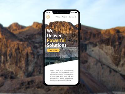 Sayers Website Concept