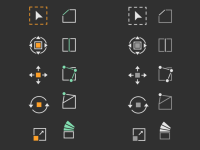 Icons for Blender (3D software) by kirloi on Dribbble