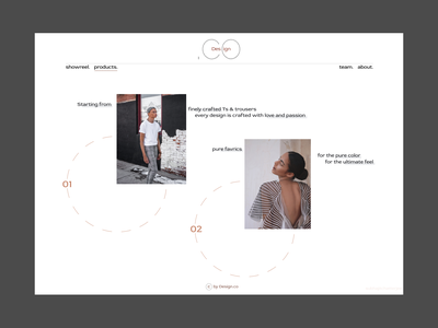 Home page design minimal web figma typography ux ui