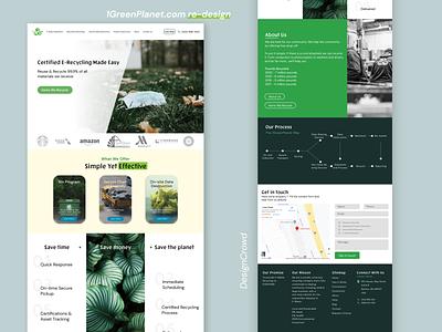 1GreenPlanet.com Landing Page Re-Design product design brand identity web design re-design ux