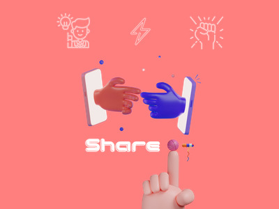 """The Thinkific """"Knowledge is power. Share it."""" challenge! branding 3d"""
