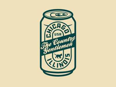 TCG Can logo cat chicago beer can beer can design beer logo illustration icon flat branding vector design