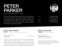 Resume mockup page1