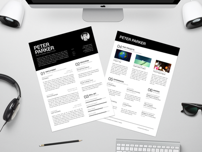Resume Mockup free freebie curriculum vitae work helvetica typography template indesign mock-up mockup cv resume