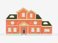 Mansion illustration stroke design icon drawing building mansion house
