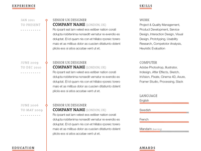 Resume Mockup II work typography template resume mock-up mockup indesign freebie free cv curriculum vitae