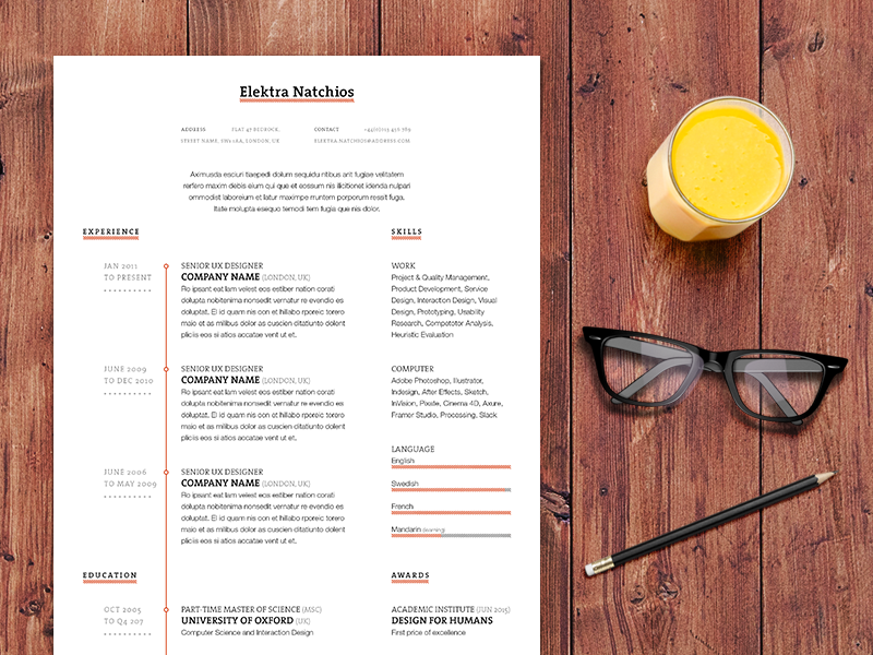 Resume Mockup II work typography template resume mock-up mockup indesign freebie free cv curriculum vitae