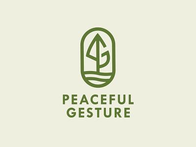 Peaceful Gesture identity design freelance designer brand design branding logodesign logo