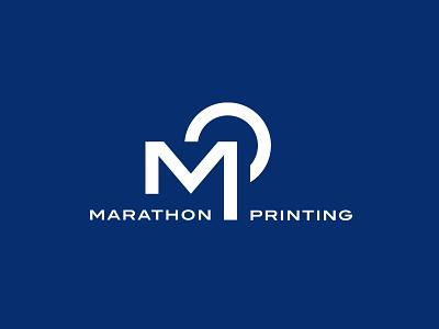Marathon Printing logodesign logo identity design freelance designer branding brand design