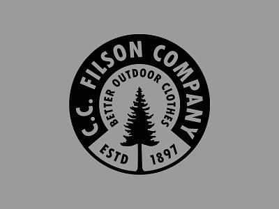 Filson Forestry Badge branding design logodesign logo identity design freelance designer brand design