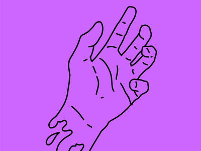Magenta hand magenta vector design illustration digitalart drawing hand lettering hand