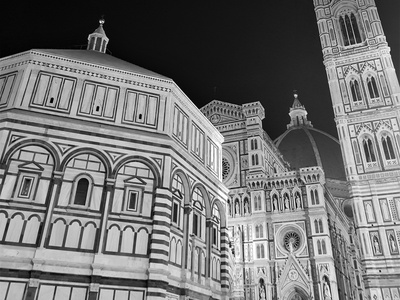 Florence Cathedral constrast dark shot black  white night church photo architecture photography italy cathedral florence