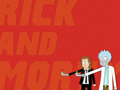 Pulp Ricktion crossover pastiche pulp fiction rick and morty