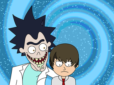 Ryuk and Morty rick and morty deathnote