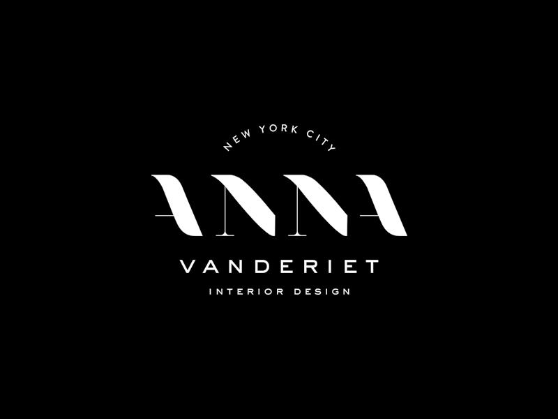 Anna vanderiet interior design brand by mel volkman for Modern interior design logos
