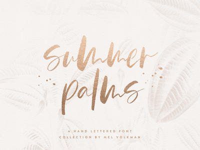 Summer Palms Brush Script Font By Mel Volkman Hand Lettered Font