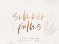 Summer Palms Brush Script Font By Mel Volkman Hand Lettered Font