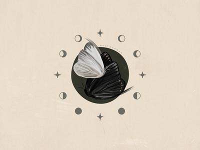 Butterfly Totem Illustration