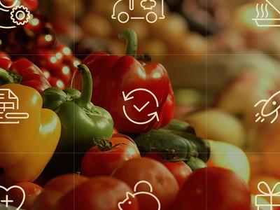 Meals icon set