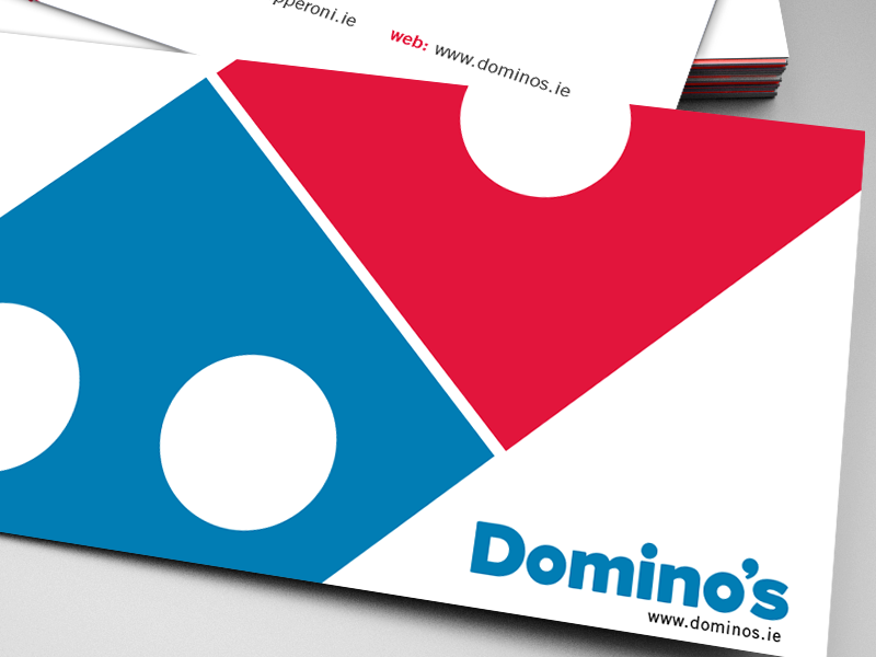 Dominos Business Cards by Toddnetworks - Dribbble