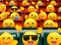 Cheering in the stadium