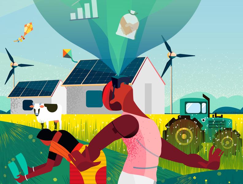 Digital India- Agriculture color branding magical motion graphics logo dribbble animation design 2d illustration