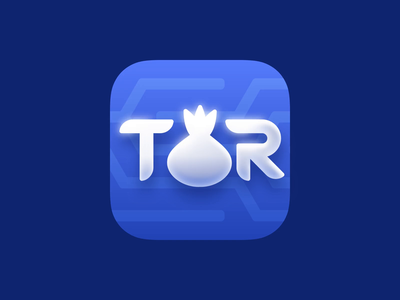 TOR App Icon animation onion connection network vpn tor icon app skeuomorphism neumorphism