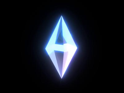 eth2 Ethereum Crystal light diamond cryptocurrency blockchain crypto ethereum eth video animation 3d
