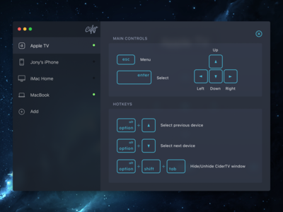 CiderTV: Apple TV remote app for OS X
