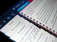 iPad reader application